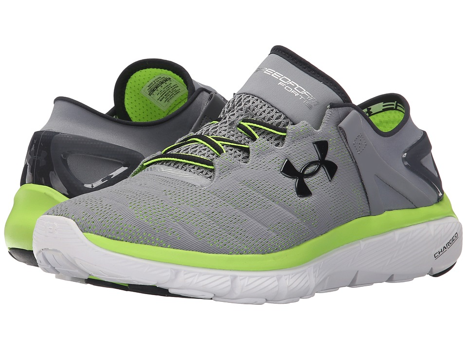 Under Armour - UA Speedformtm Fortis Vent (Steel/White/Anthracite) Men's Running Shoes