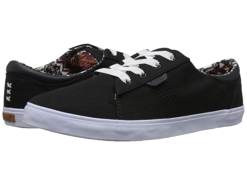 Reef - Ridge (Black) Women's Lace up casual Shoes