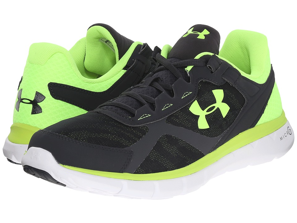 Under Armour - UA Micro G(r) Velocity RN GR (Anthracite/White/Fuel Green) Men's Running Shoes