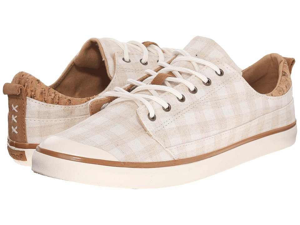 Reef - Walled Low TX (White Check) Women's Lace up casual Shoes