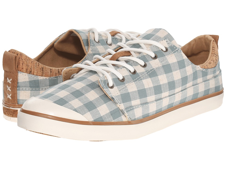 Reef - Walled Low TX (Turquoise Check) Women's Lace up casual Shoes