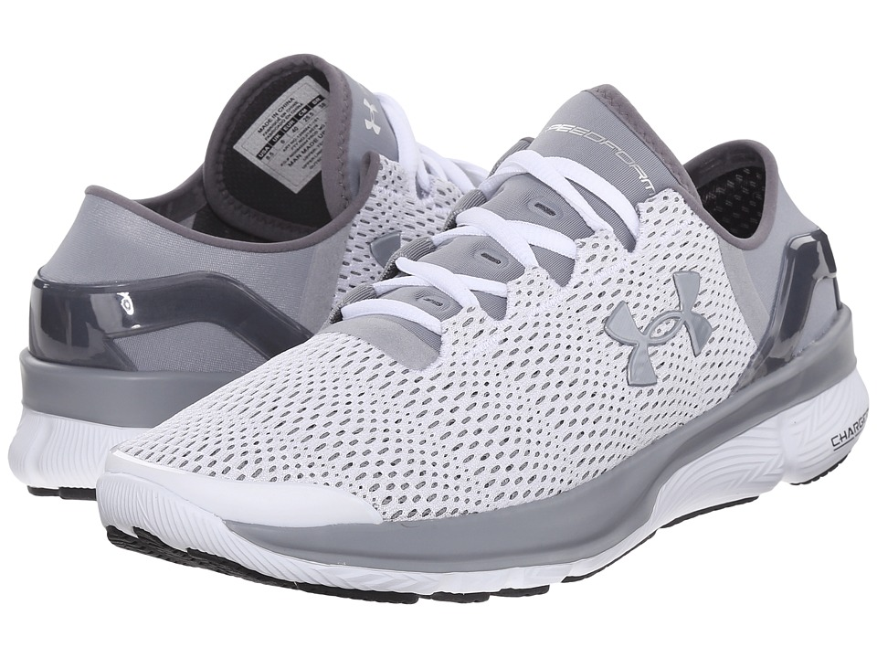 Under Armour - UA Speedformtm Apollo 2 (White/Steel/Steel) Women's Running Shoes