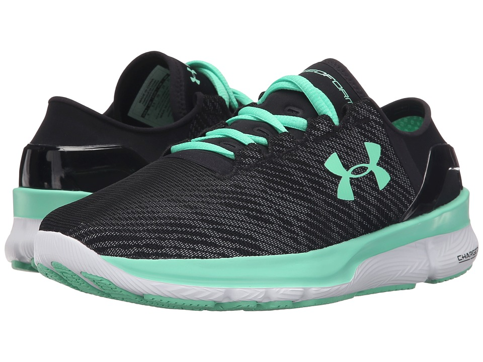 Under Armour - UA Speedformtm Apollo 2 R (Black/White/Antifreeze) Women's Running Shoes
