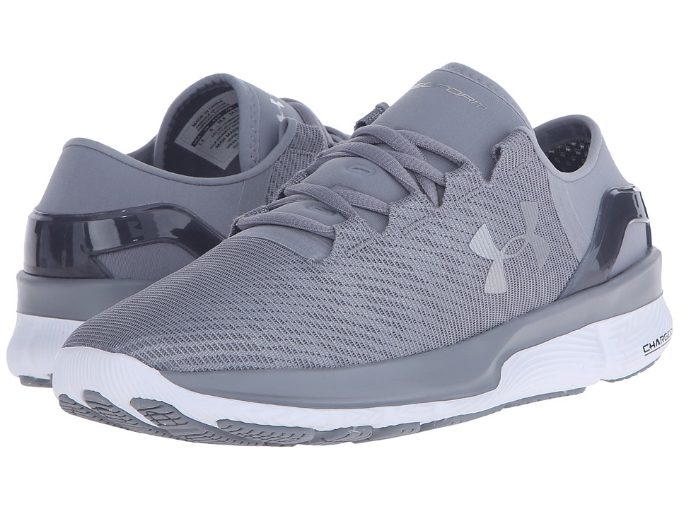 Under Armour - UA Speedformtm Apollo 2 R (Steel/White/Metallic Silver) Women's Running Shoes