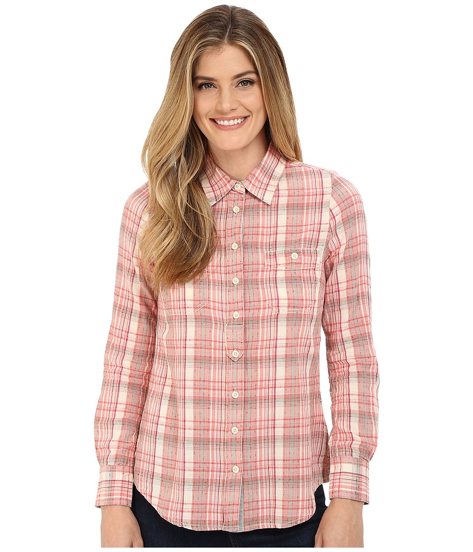 Aventura Clothing - Hathaway Long Sleeve (Spiced Coral) Women's Long Sleeve Button Up