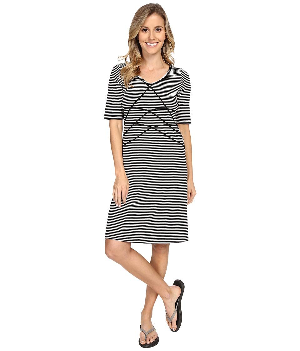 Aventura Clothing Brielyn Striped Dress (Black) Women