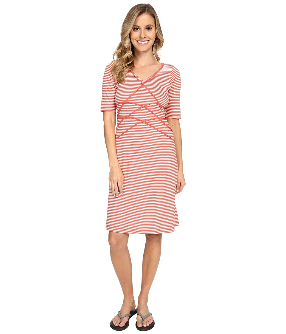 Aventura Clothing Brielyn Striped Dress (Spiced Coral) Women