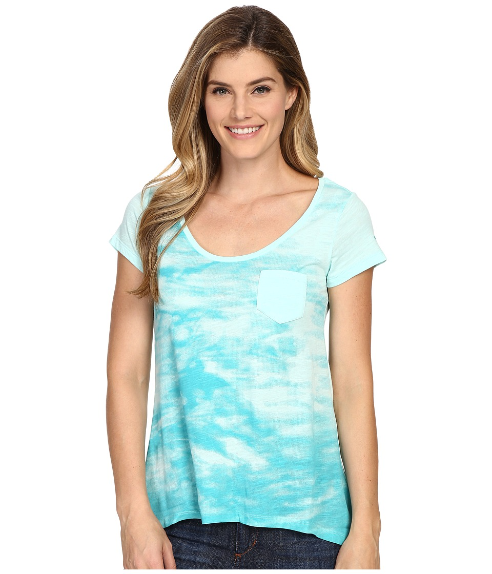 Columbia - Waves Pocket Tee (Ocean Water) Women's T Shirt