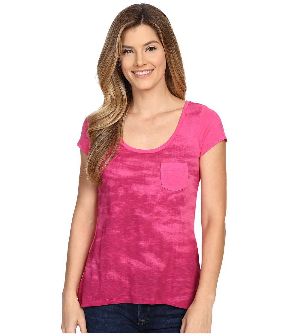 Columbia - Waves Pocket Tee (Ultra Pink) Women's T Shirt