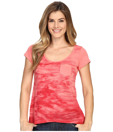 Columbia - Waves Pocket Tee (Coral Bloom) Women's T Shirt