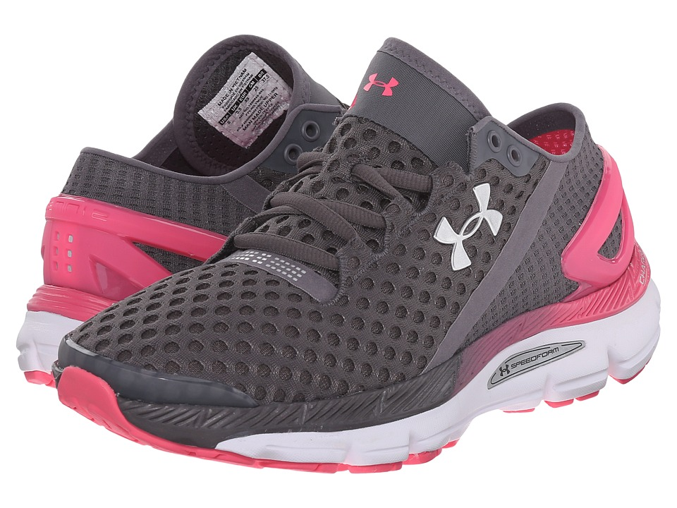 Under Armour - UA Speedformtm Gemini 2 (Graphite/Cerise/Metallic Silver) Women's Running Shoes