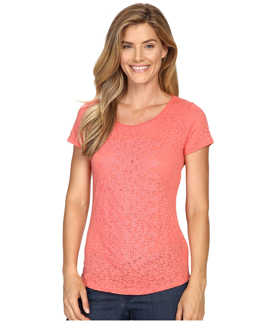 Columbia - Elevated Short Sleeve Tee (Coral Bloom) Women's T Shirt