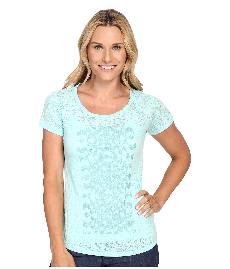 Columbia - Elevated Short Sleeve Tee (Ocean Water) Women's T Shirt