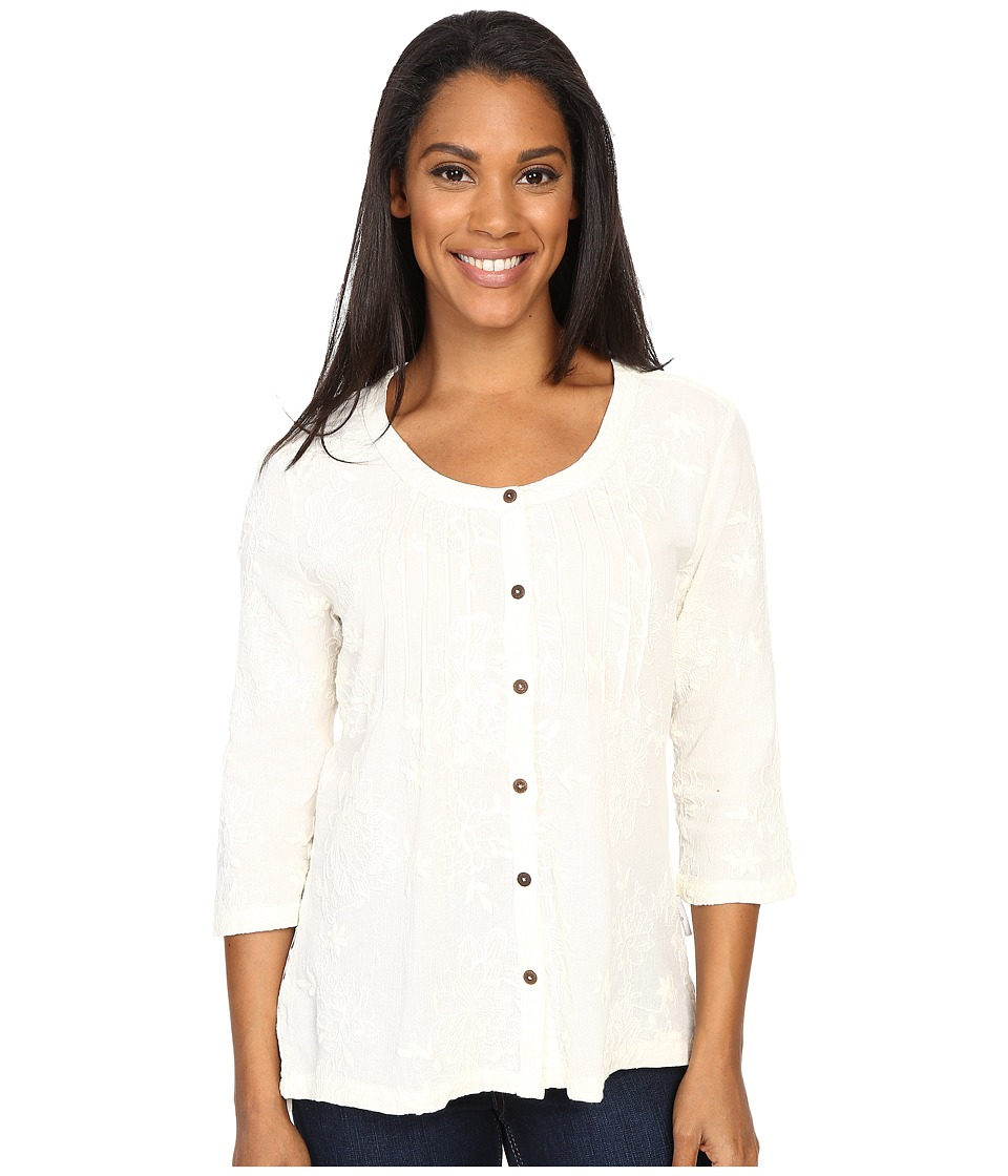 Royal Robbins - Oasis Embroidered Pullover Top (Cr me) Women's Blouse