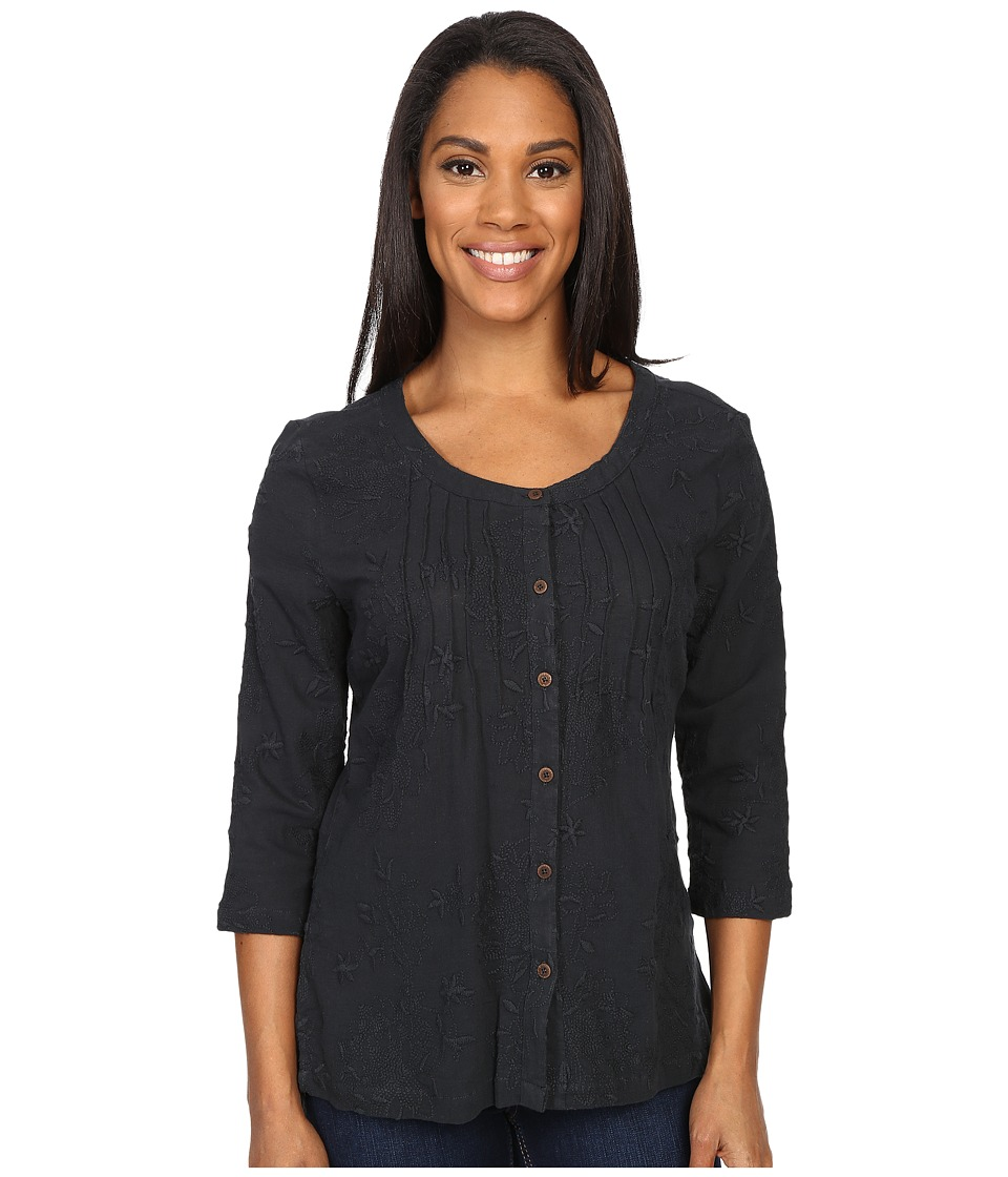 Royal Robbins - Oasis Embroidered Pullover Top (Jet Black) Women's Blouse