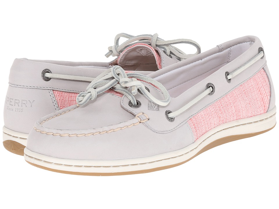 Sperry - Firefish Cross Hatch Canvas (Light Grey/Coral Multi) Women's Lace up casual Shoes