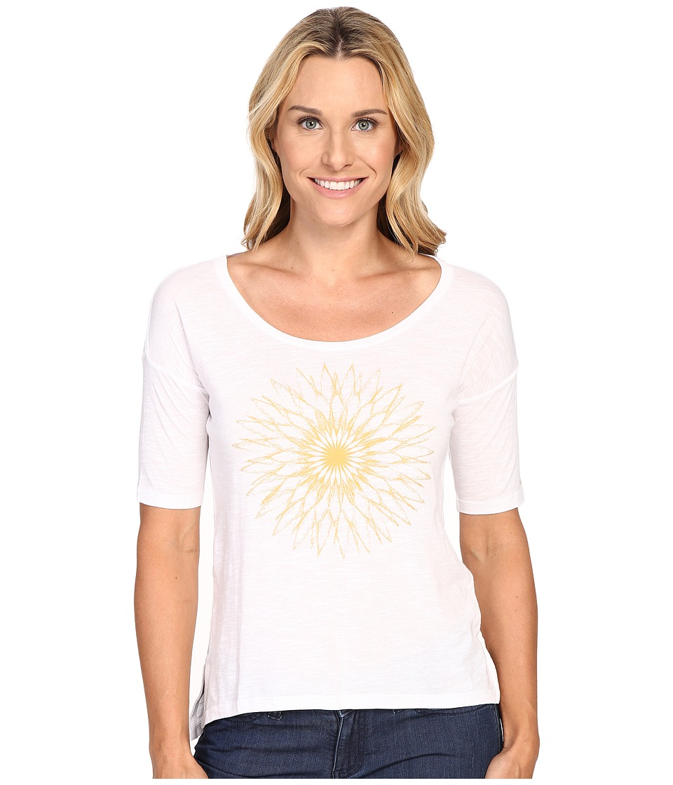 Columbia - The Barley Short Sleeve Tee (White) Women's T Shirt