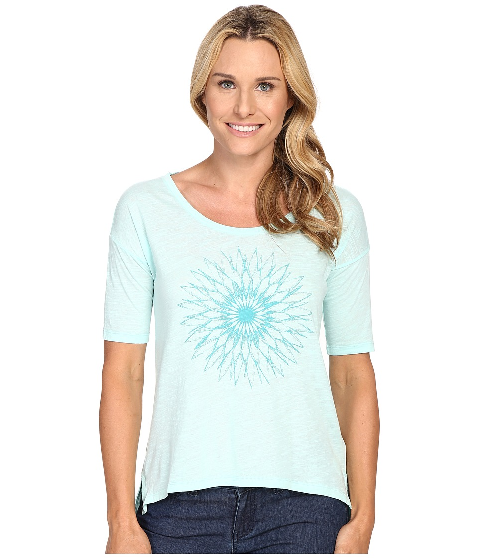 Columbia - The Barley Short Sleeve Tee (Ocean Water) Women's T Shirt