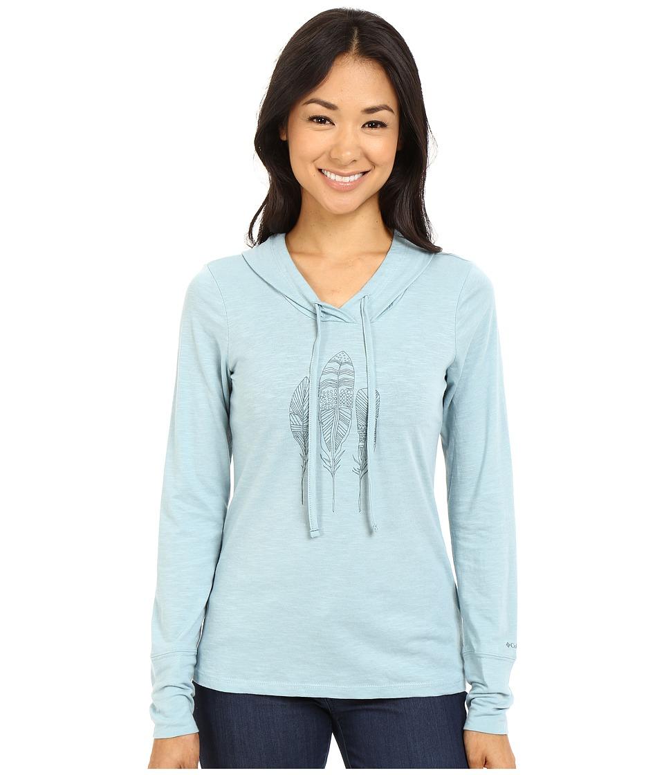 Columbia - Summer Nights Hoodie (Stone Blue) Women's Sweatshirt