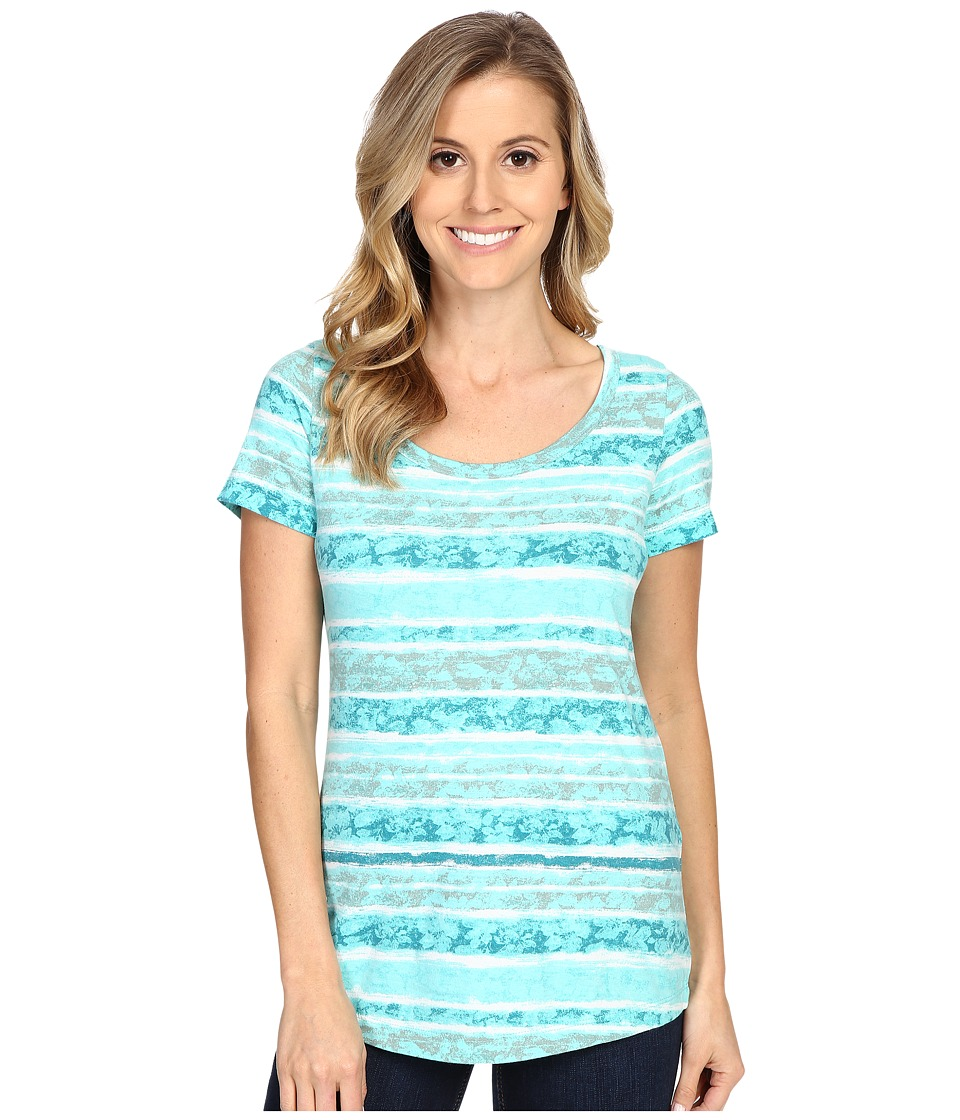 Aventura Clothing - Sunnyvale Short Sleeve (Blue Turquoise) Women's T Shirt
