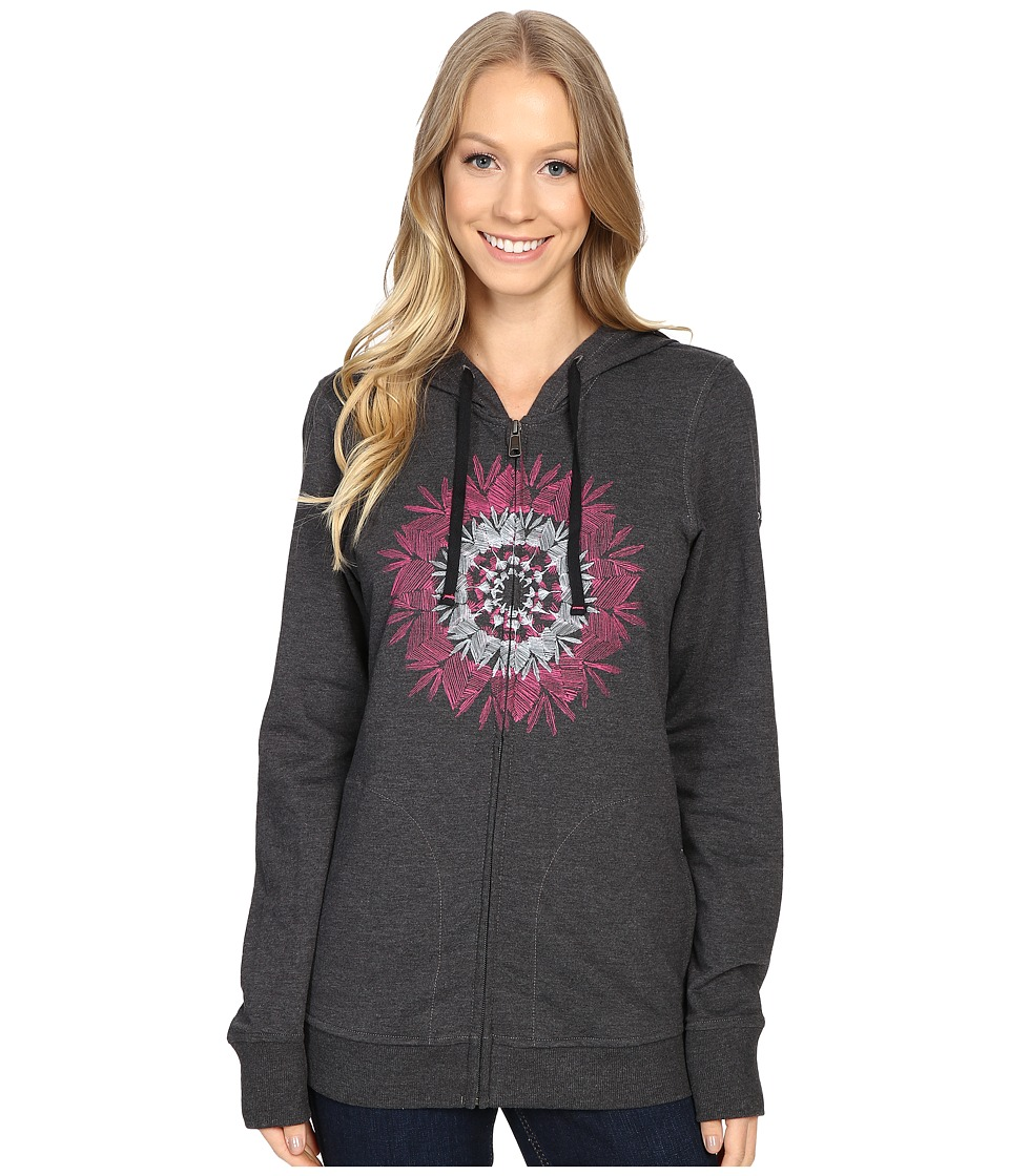 Columbia - Feather Medallion Full-Zip Hoodie (Charcoal Heather) Women's Sweatshirt