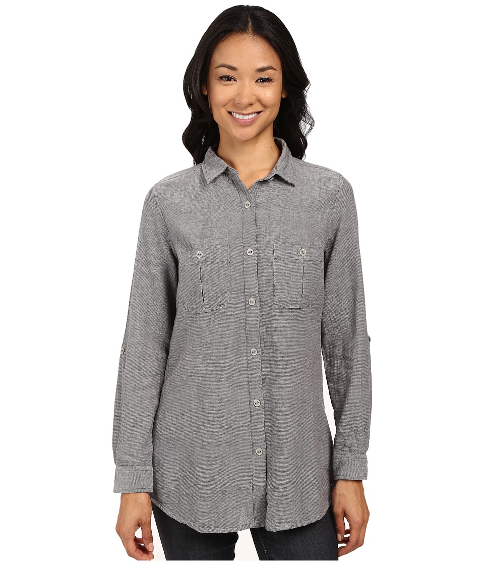 Royal Robbins - Cool Mesh Long Sleeve Top (Charcoal) Women's Long Sleeve Button Up