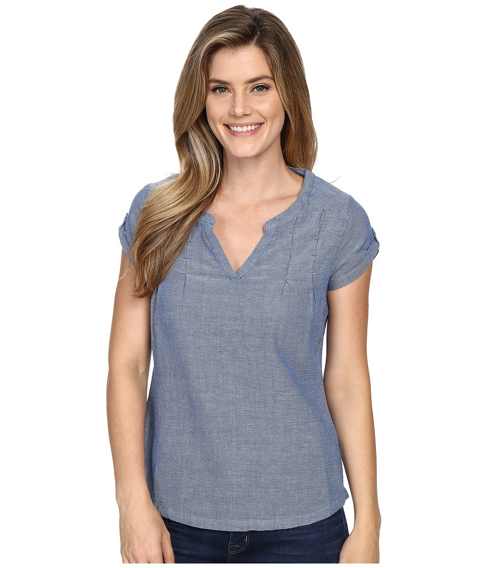 Royal Robbins - Cool Mesh Short Sleeve Top (Dark Lapis) Women's Short Sleeve Pullover