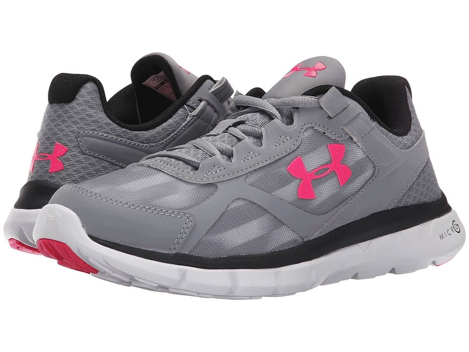 Under Armour - UA Micro G(r) Velocity RN (Steel/Black/Harmony Red) Women's Running Shoes