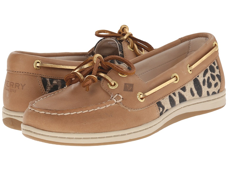 Sperry Top-Sider - Firefish Leopard (Linen) Women's Lace up casual Shoes