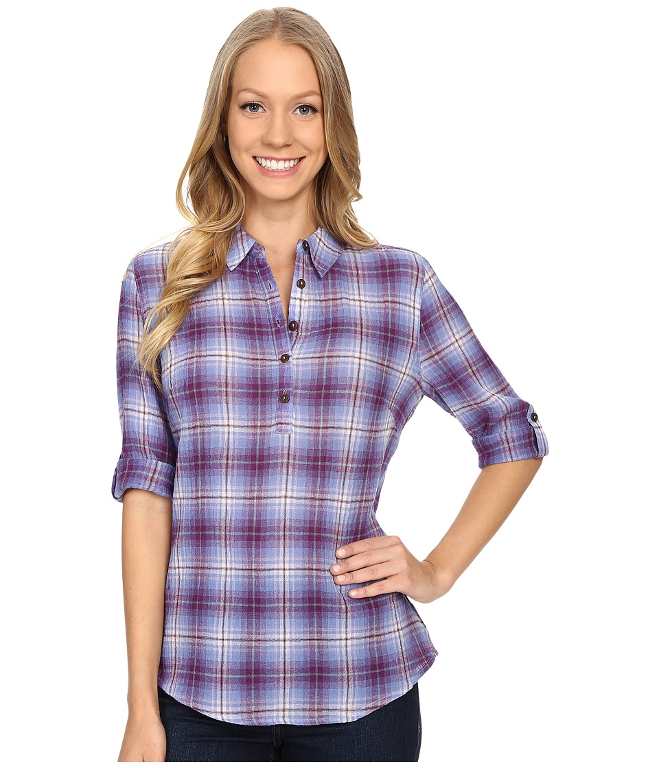 Royal Robbins - Oasis Plaid Pullover Top (Amethyst) Women's Long Sleeve Pullover