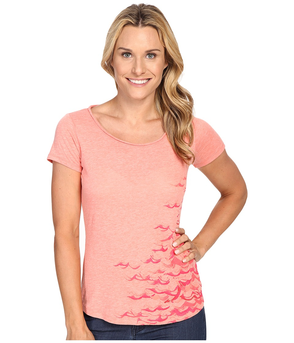 Columbia - Seascape Short Sleeve Tee (Coral Bloom Heather) Women