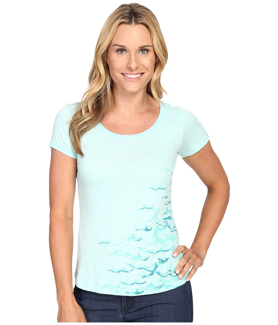 Columbia - Seascape Short Sleeve Tee (Ocean Water Heather) Women's T Shirt