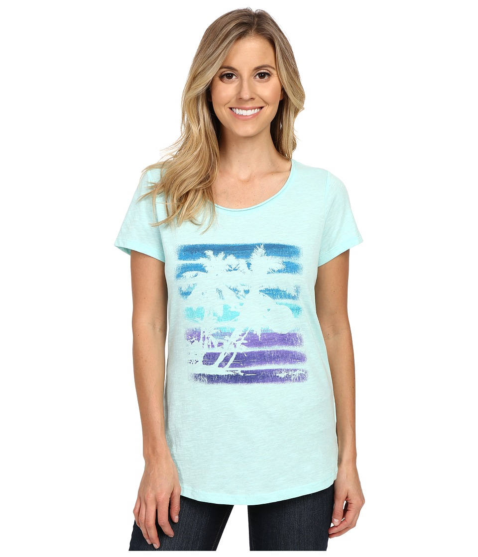 Columbia Sunset Stripe Short Sleeve Tee (Ocean Water Heather) Women