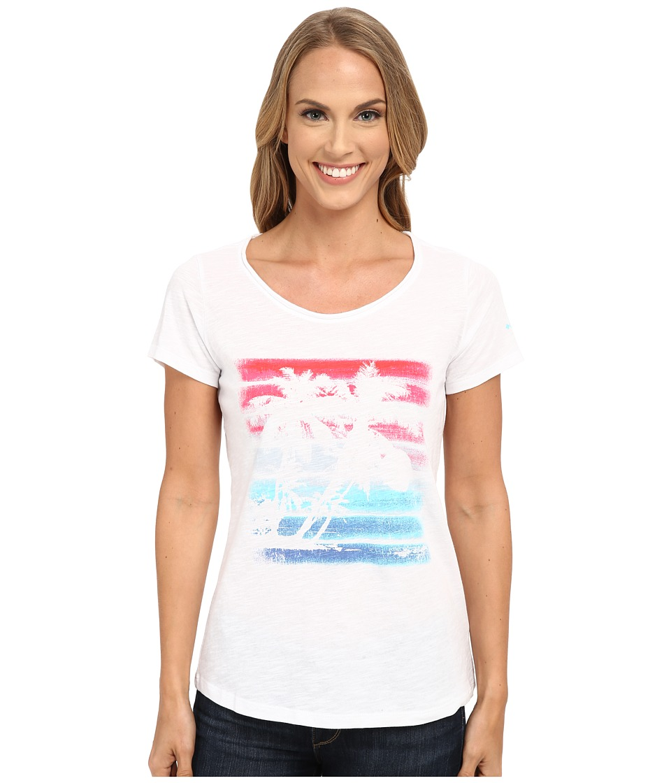 Columbia - Sunset Stripe Short Sleeve Tee (White) Women's T Shirt