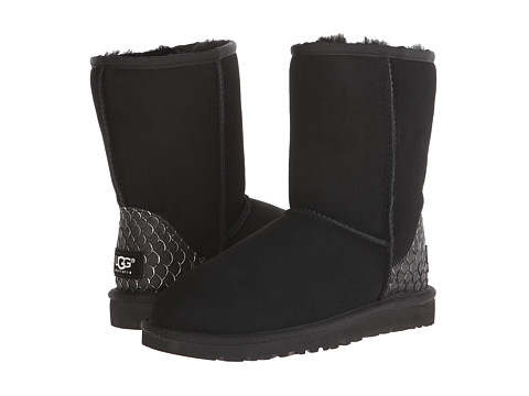 UGG - Classic Short Perla (Black) Women's Shoes