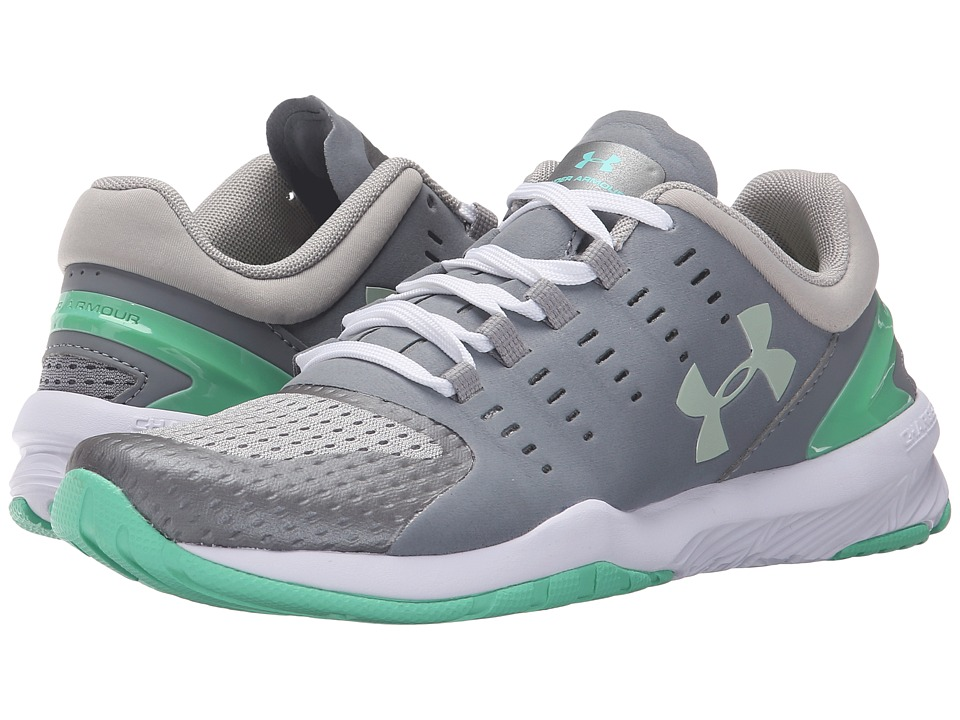Under Armour - UA Charged Stunner (Steel/Antifreeze/Seaglass Green) Women's Cross Training Shoes