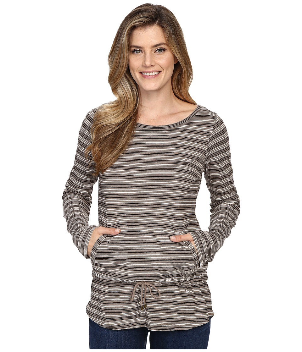 Royal Robbins - Breeze Thru Stripe Cover Top (Light Taupe) Women's Long Sleeve Pullover