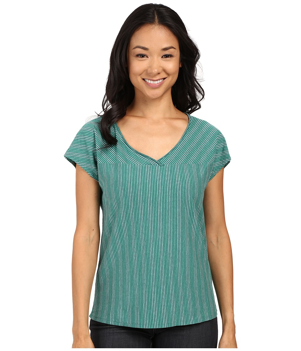 Royal Robbins - Breeze Thru Stripe Short Sleeve Top (Sea Glass Green) Women's Short Sleeve Pullover