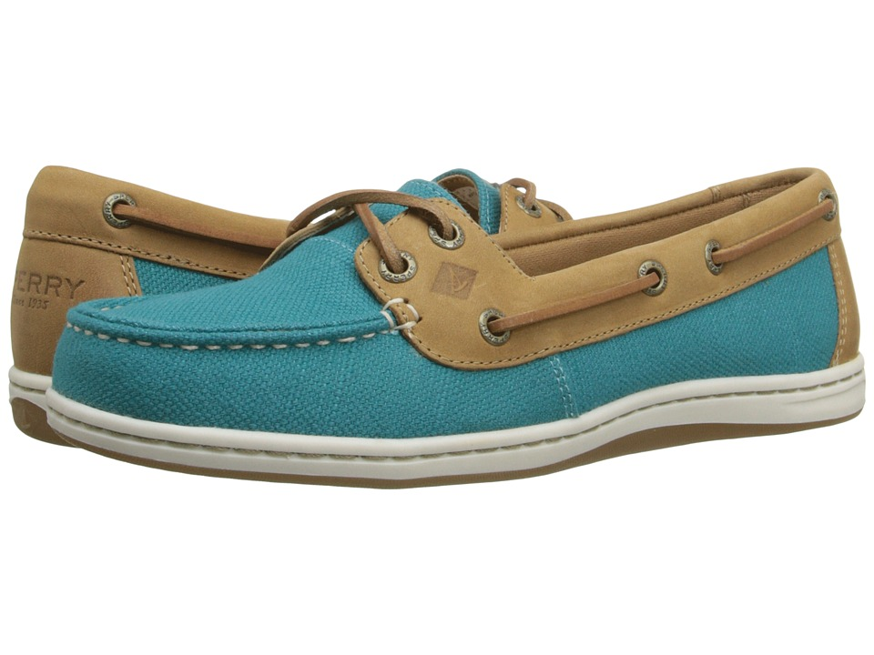 Sperry Firefish Nubby Canvas (Teal) Women