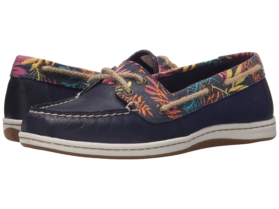 Sperry Top-Sider - Firefish Seaweed Print (Navy/Pink Multi) Women's Lace up casual Shoes