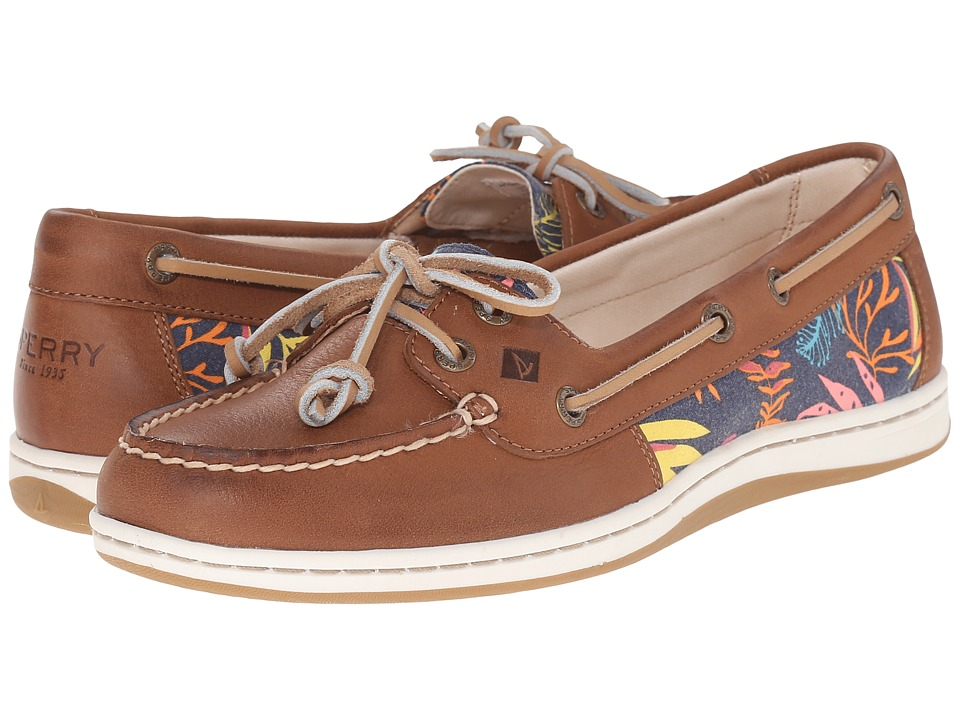 Sperry Top-Sider Firefish Seaweed Print (Tan/Pink Multi) Women