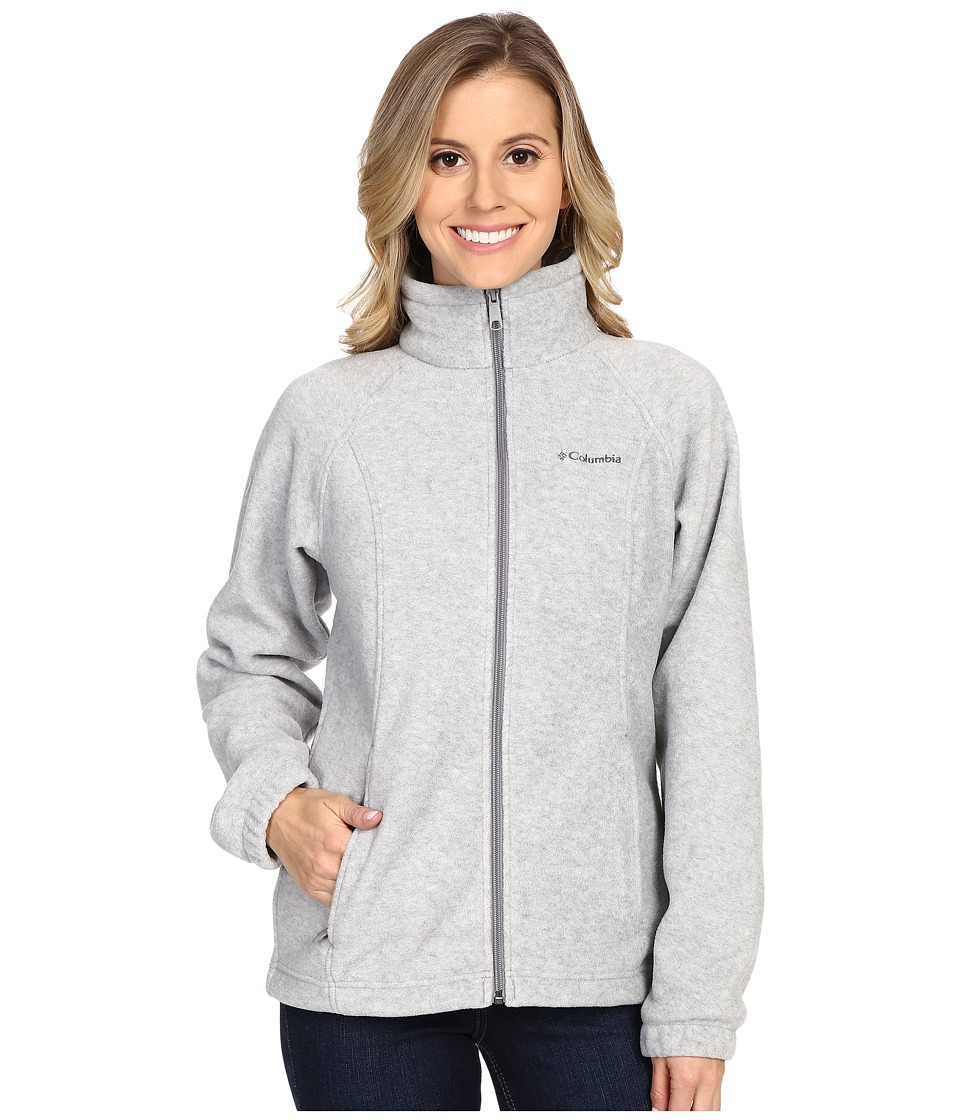 Columbia - Benton Springs Full Zip (Light Grey Heather) Women's Jacket