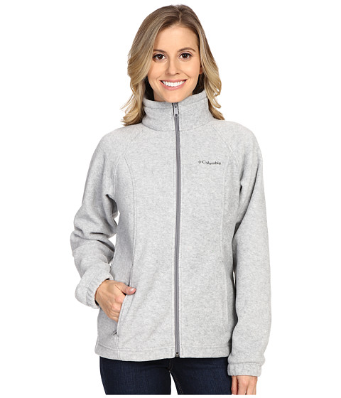 Columbia - Benton Springs Full Zip (Light Grey Heather) Women
