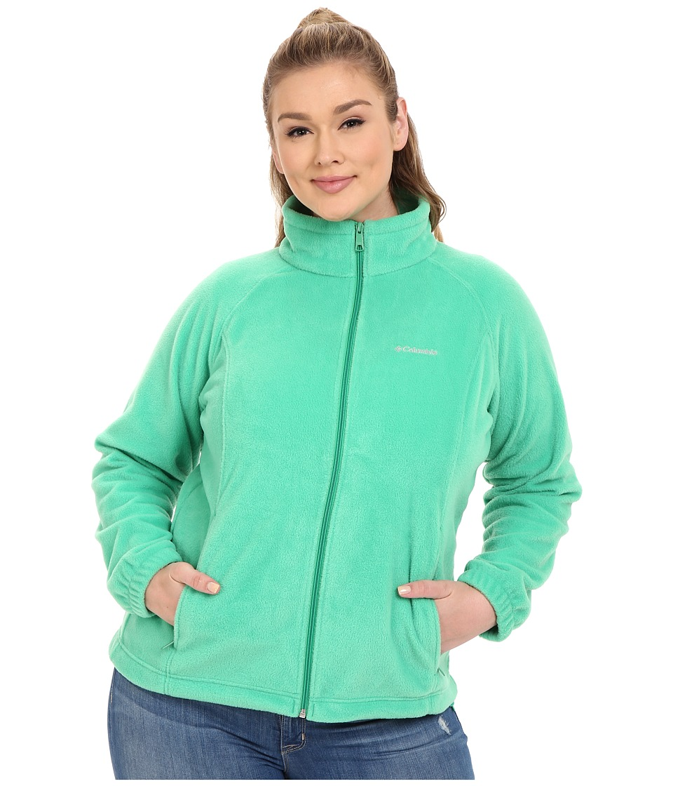 Columbia - Plus Size Benton Springs Full Zip (Dark Lime) Women's Sweatshirt