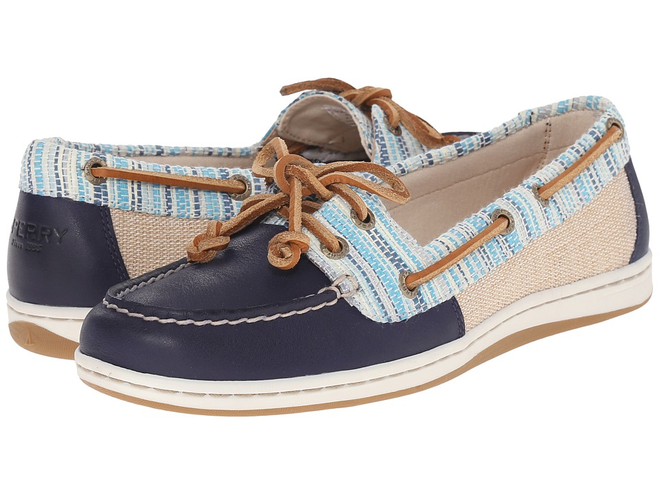 Sperry - Firefish Raffia Stripe (Blue) Women's Lace up casual Shoes