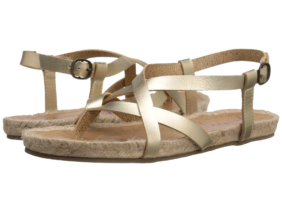 Blowfish - Granola Rope (Gold Dyecut PU) Women's Sandals