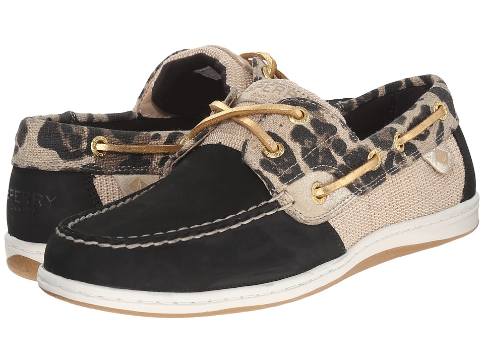 Sperry Koifish Animal (Black Leopard) Women
