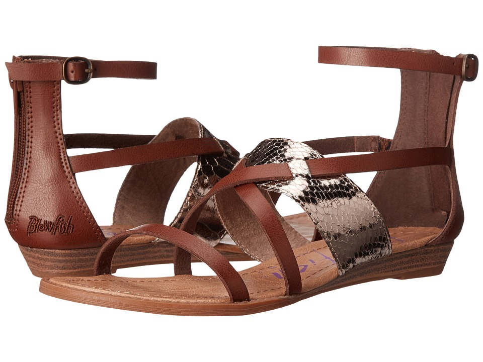 Blowfish - Badot (Whiskey Pisa/Pewter Metal Snakepit PU) Women's Sandals