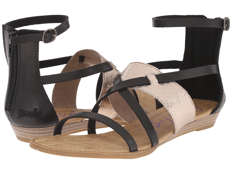 Blowfish - Badot (Black Pisa/Pewter Metal Snakepit) Women's Sandals
