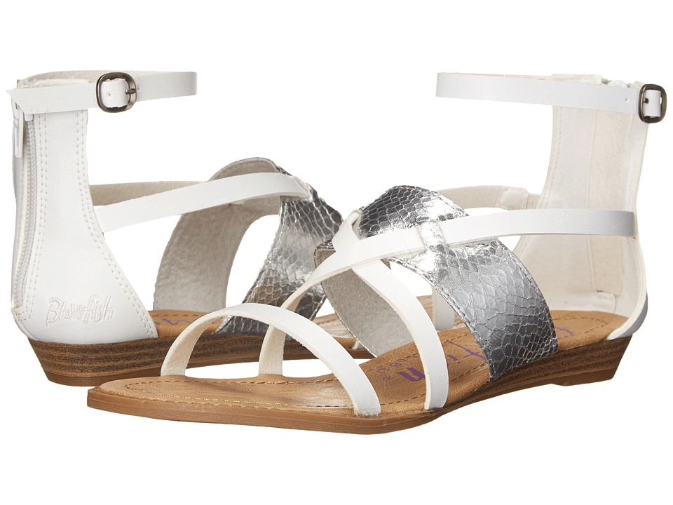 Blowfish - Badot (White Pisa/Silver) Women's Sandals